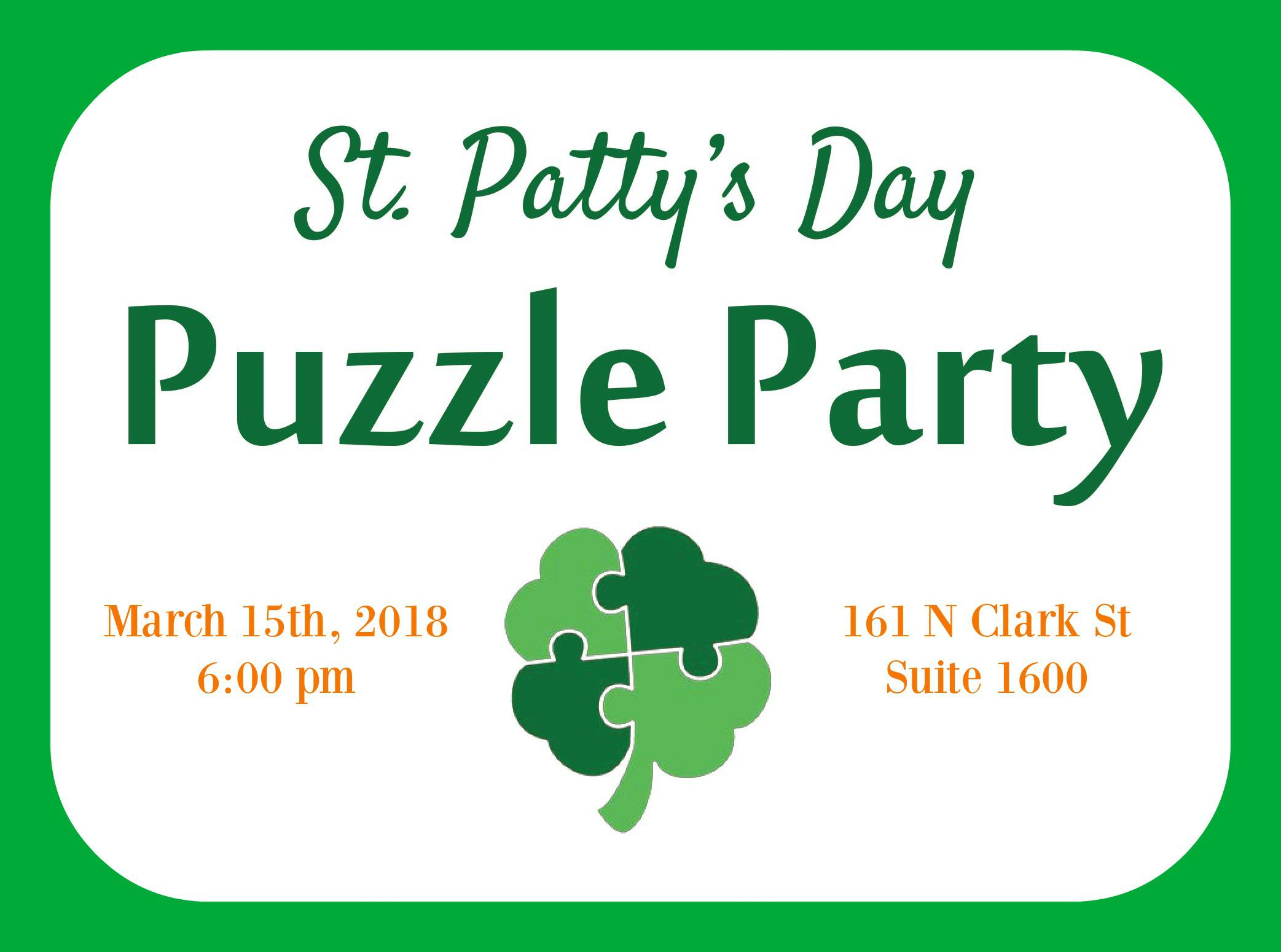 St. Patty's Day Puzzle Party