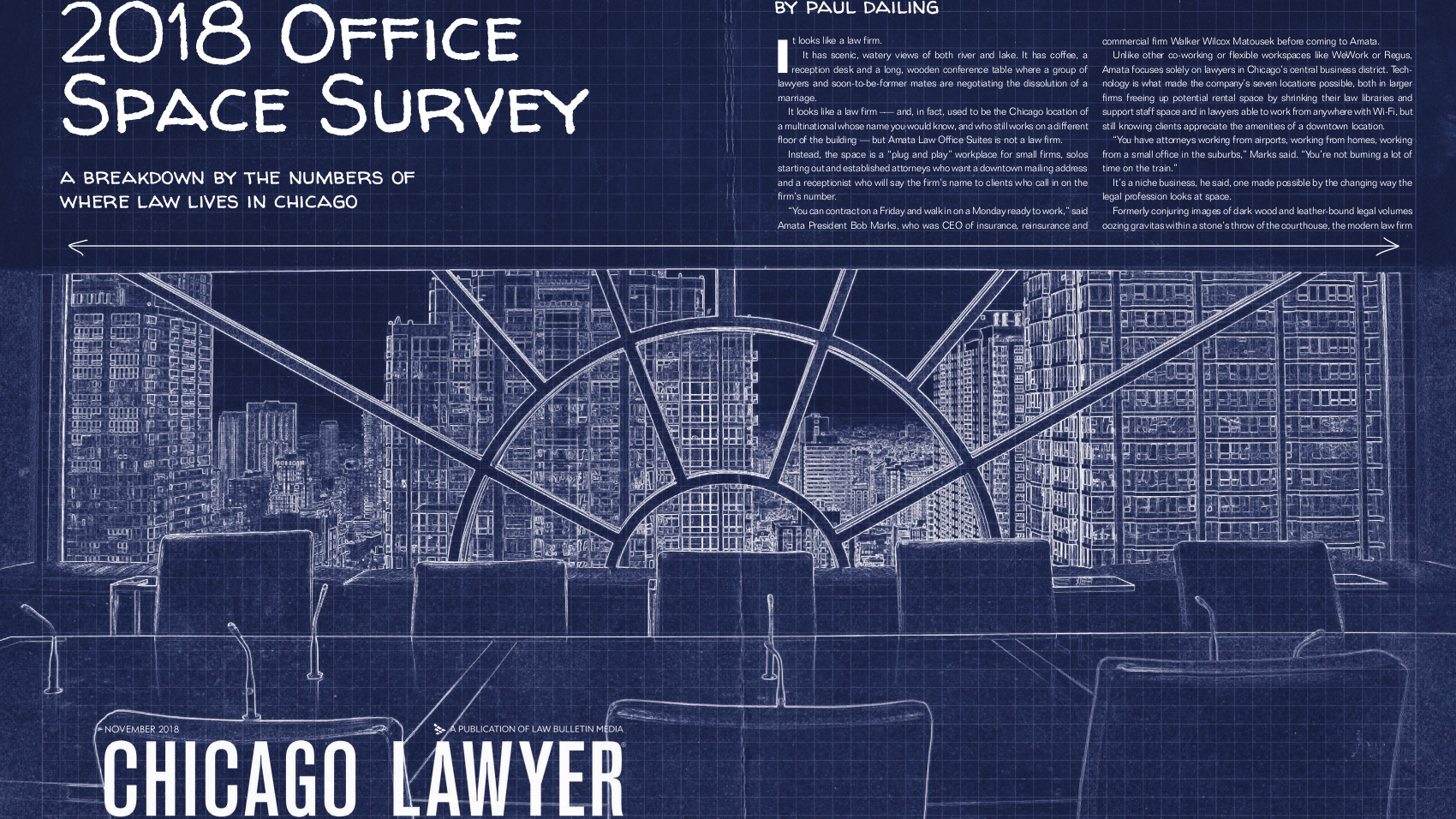 Amata President Interviewed – Chicago Lawyer's 2018 Office Space Survey